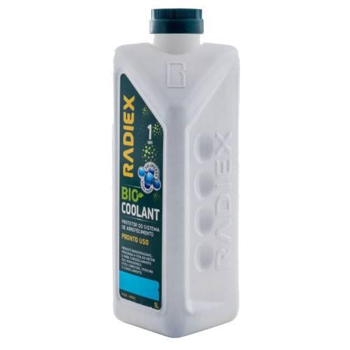 Aditivo Radiador -  RADIEX Bio Coolant Azul Concentrado 1 Litro R-1922 - CAIXA COM 16 UNIDADES