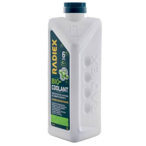 Aditivo Radiador - RADIEX Bio Coolant Verde Super Concentrado 1 Litro R-1882 - CAIXA COM 16 UNIDADES