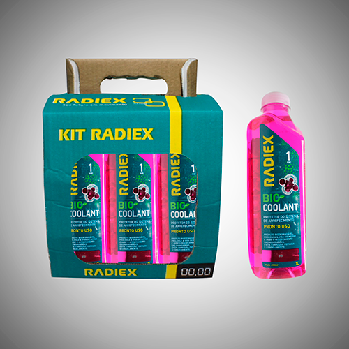 Pack 6 Bio Coolant Radiex R1892 Pronto Uso Rosa