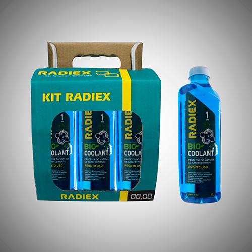 Pack 6 Bio Coolant Radiex R1893 Pronto Uso Azul