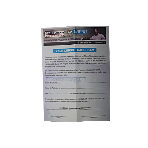 Scanner Automotivo NAPRO PC-SCAN3000 FL Versão 18 básico c/ conector OBD2-ISO