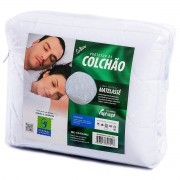 PROTETOR DE COLCHÃO 100% ALGODÃO SOLTEIRO PERMEÁVEL