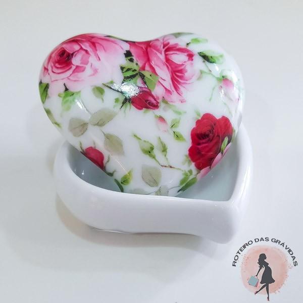 Coração em porcelana - 12 unidades