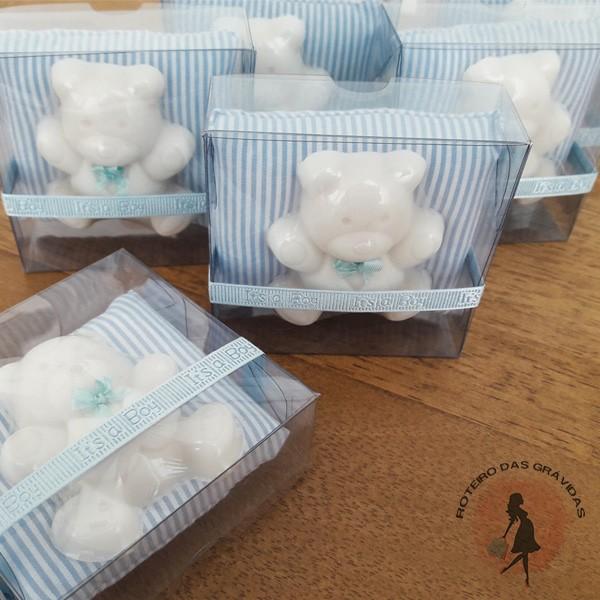 Lembrancinha sabonete ursinho - 30 unidades