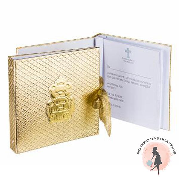 Livro do batizado dourado