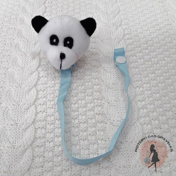 Prendedor de chupeta pelúcia Panda