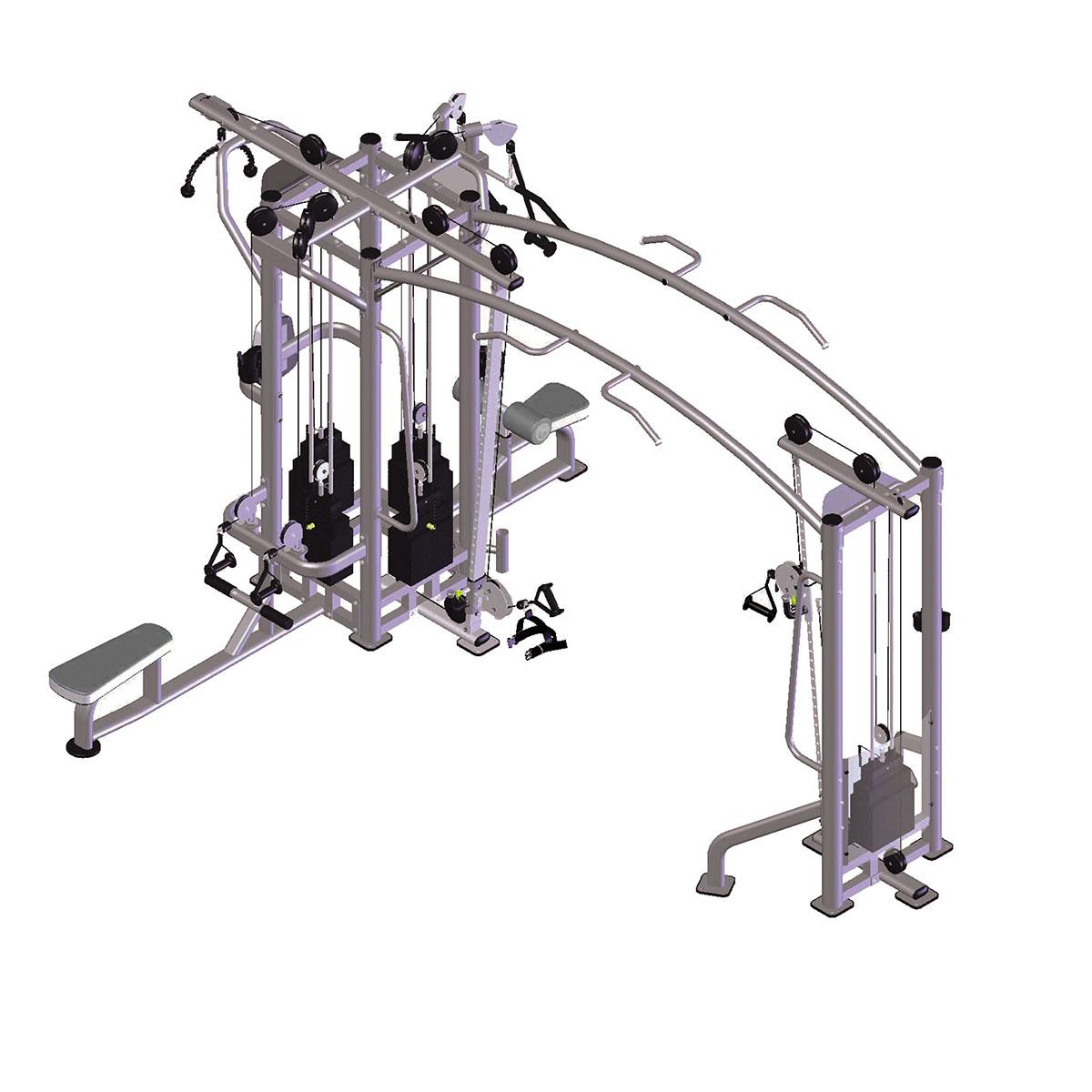5 Station Muti Gym  (5 x 200 lbs) sob encomenda