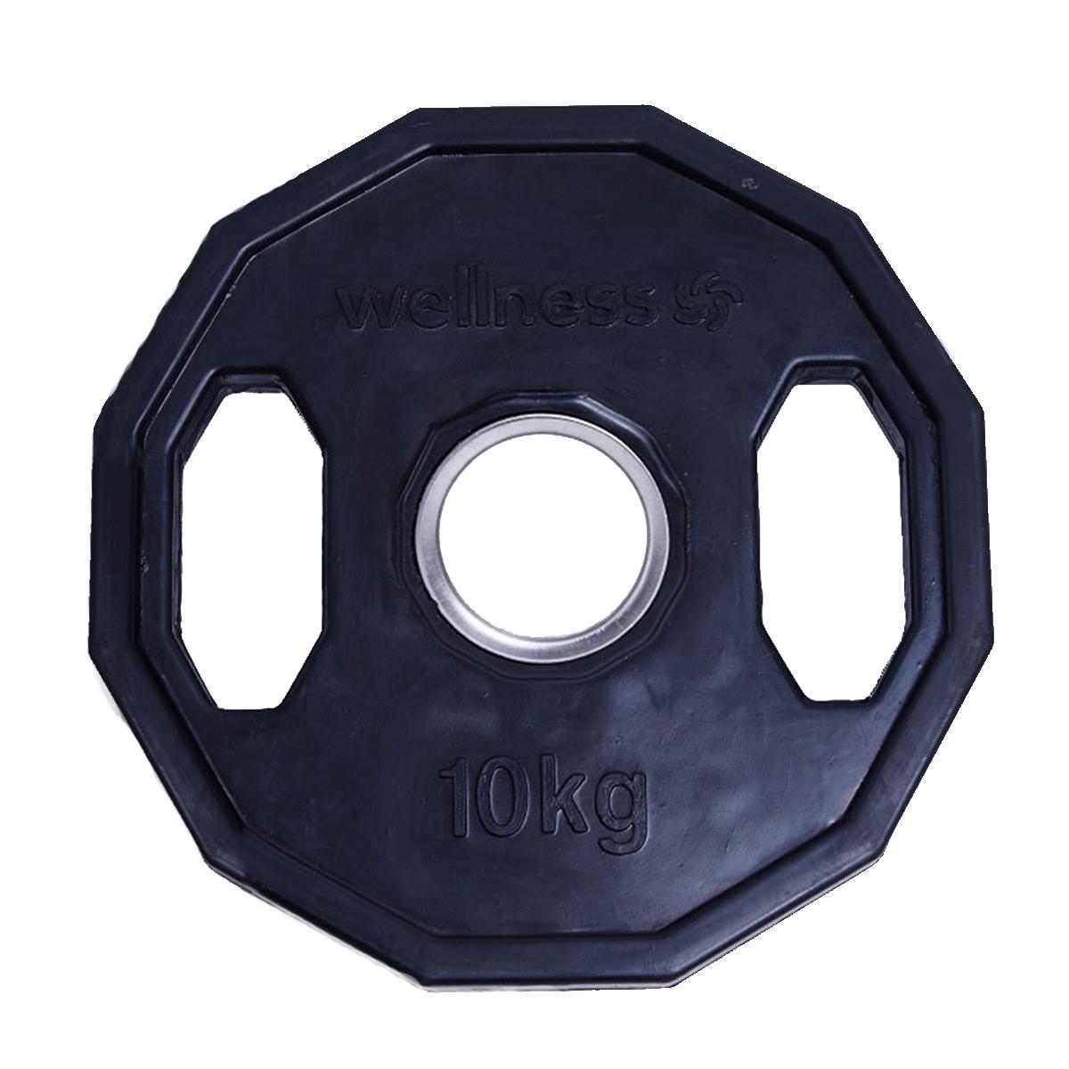 Anilha Olímpica Wellness Emb.c/ 12 faces de 10,00 kg  (unid)