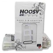Adaptador de Chip Nano Micro Sim Card - 3 Em 1