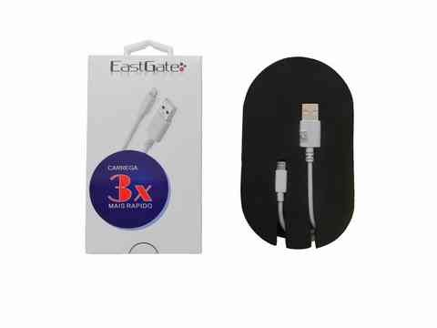 Cabo Usb Iphone 5/6 Eastgate  Carrega 3x + Rápido