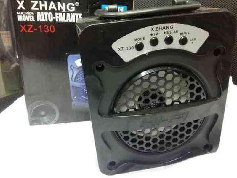 Caixa de Som Bluetooth Portátil 12w Rms,usb,fm,sd Xz-130