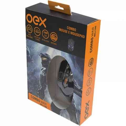 Combo Gamer Oex Mouse Luminoso 07 Cores 2400dpi + Mousepad Antiskid - Mc100