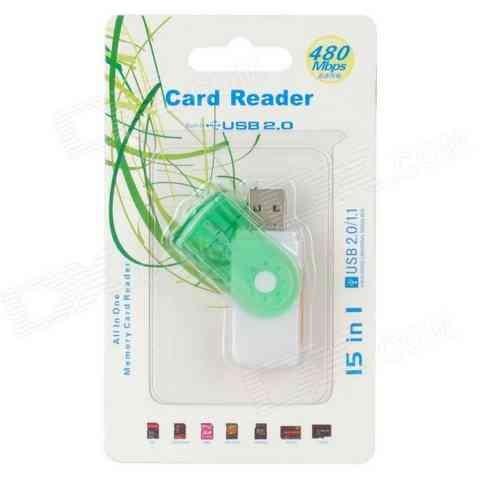 Leitor de Cartão de Memória 20 Usb Card Reader Pen Drive