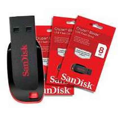 Pen Drive 8GB - Sandisk - Cruzer Blade
