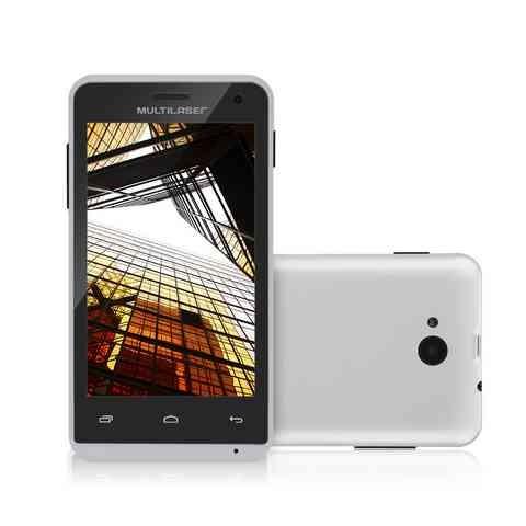 Smartphone Multilaser MS40 Cor Branca Tela 4