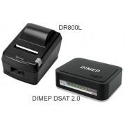 KIT SAT Dimep D-SAT 2.0 + impressora Daruma DR-800 L USB / SERRILHA