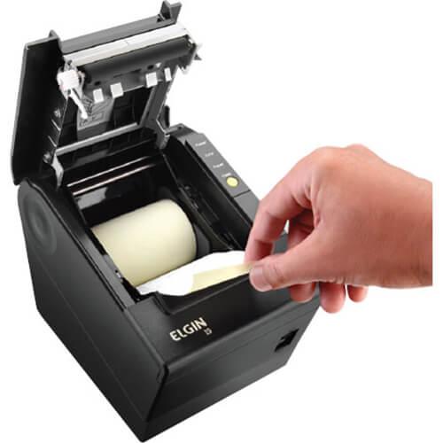 KIT SAT Elgin Linker S@T + impressora Elgin i9 USB e ETHERNET / GUILHOTINA  - Loja Campinas WCOM Soluções