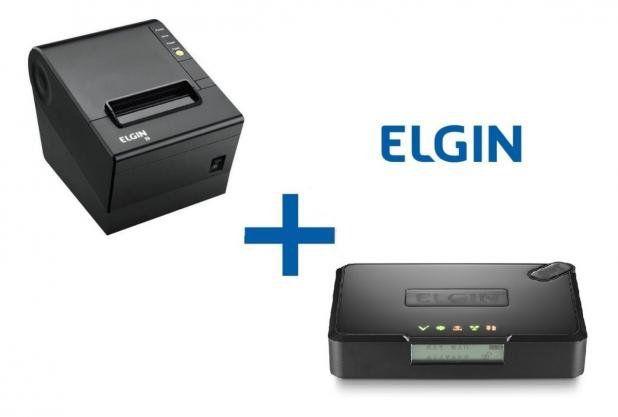 KIT SAT Elgin SMART S@T + impressora Elgin i9 USB / GUILHOTINA  - Loja Campinas WCOM Soluções