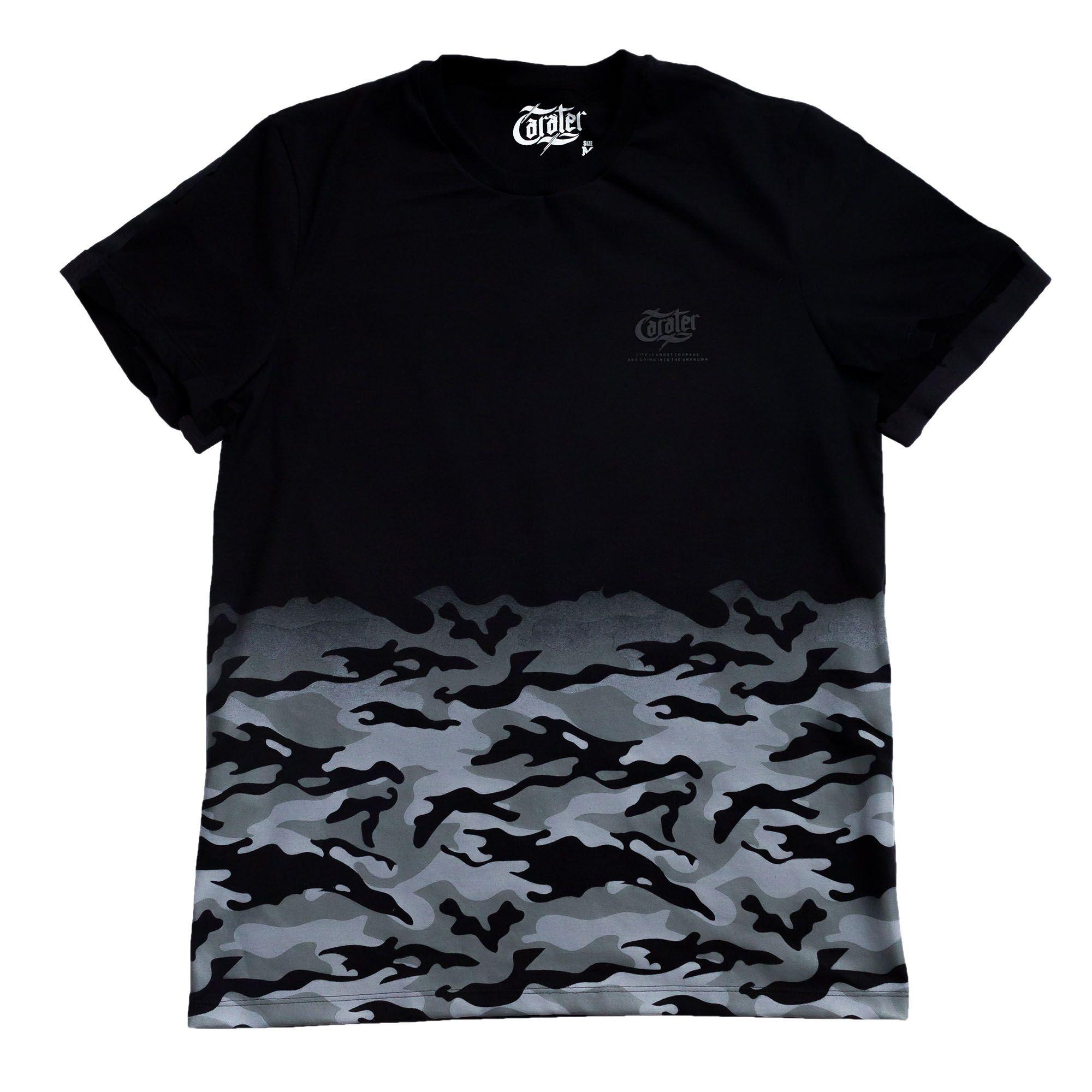 Camiseta Camuflado Preto - Caráter a5991a590f9