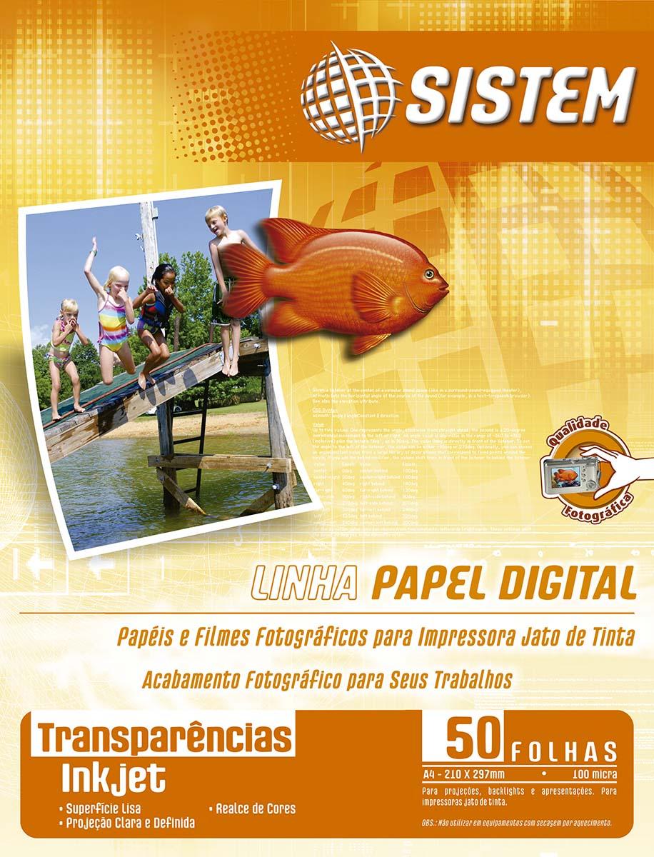 TRANSPARÊNCIA Inkjet sem Tarja | A4 | 100 micra