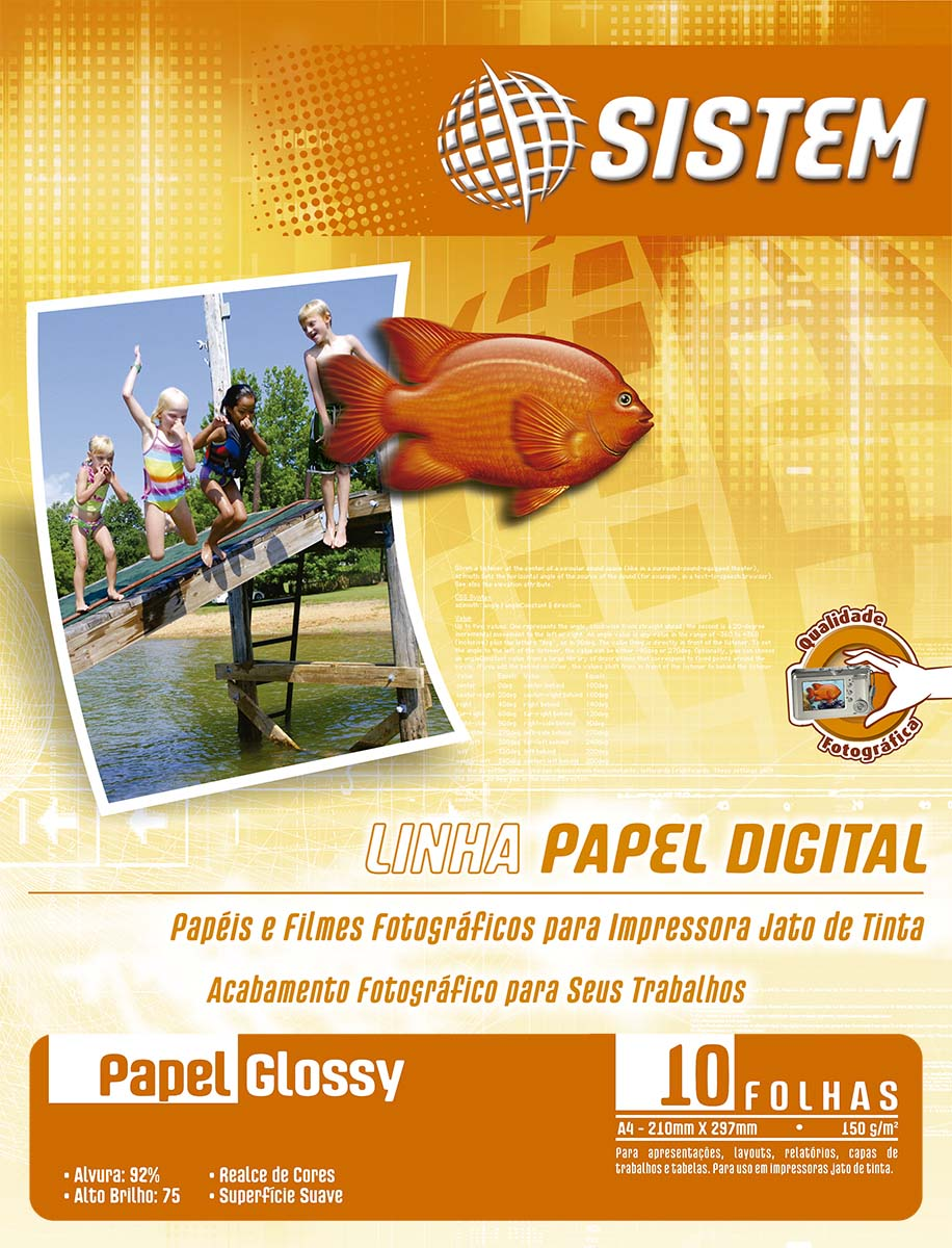 Papel GLOSSY | A4 | 150g/m²