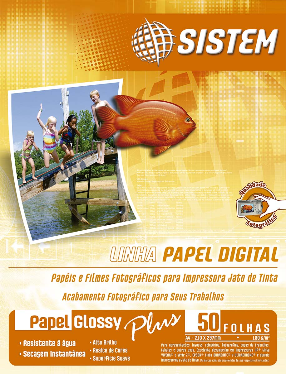 Papel GLOSSY PLUS | A4 | 180g/m²