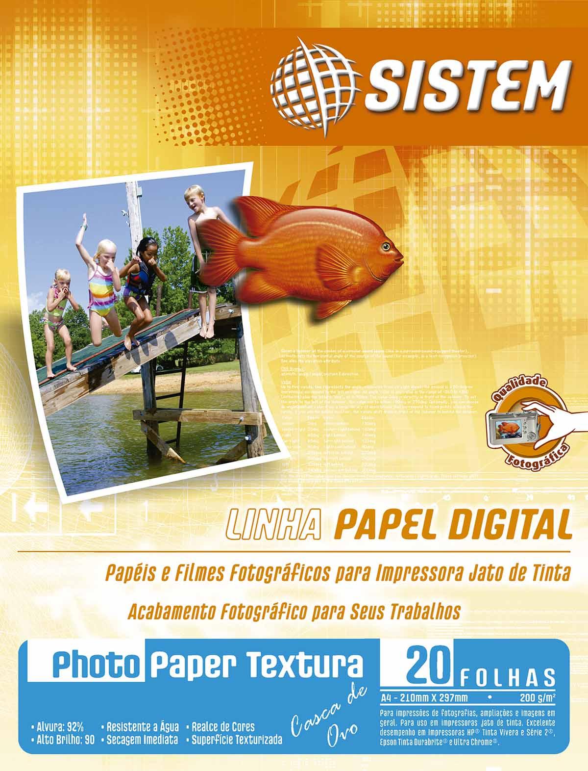 PHOTO PAPER TEXTURA CASCA DE OVO | A4 | 20 FOLHAS | 200g/m²