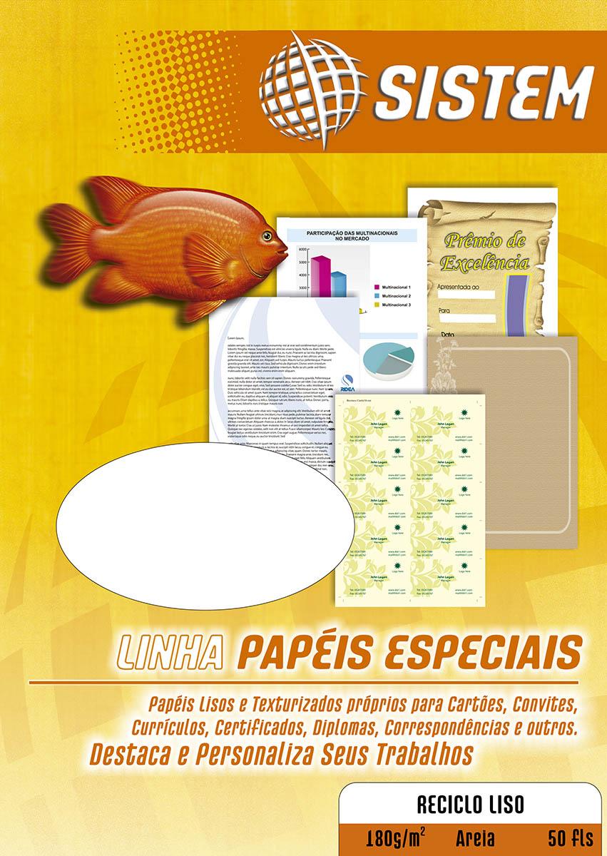 RECICLO Liso Areia | A4 | 180g/m²