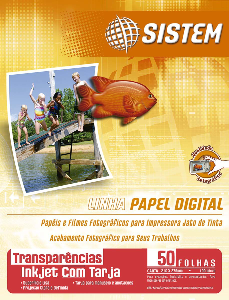 TRANSPARÊNCIA Inkjet Com Tarja | Carta | 100 micra
