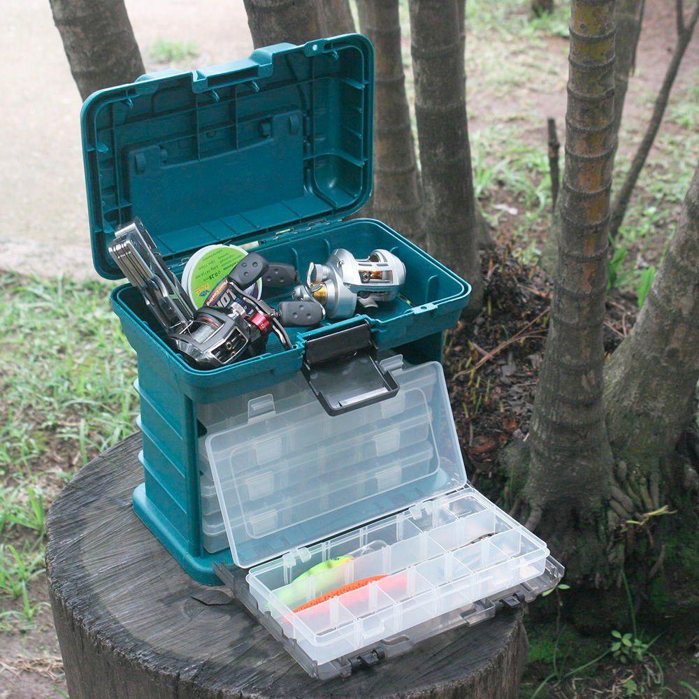 Caixa Plástica  c/ Bandeja e Organizadores Multiuso - Nautika  - AVENTÚ