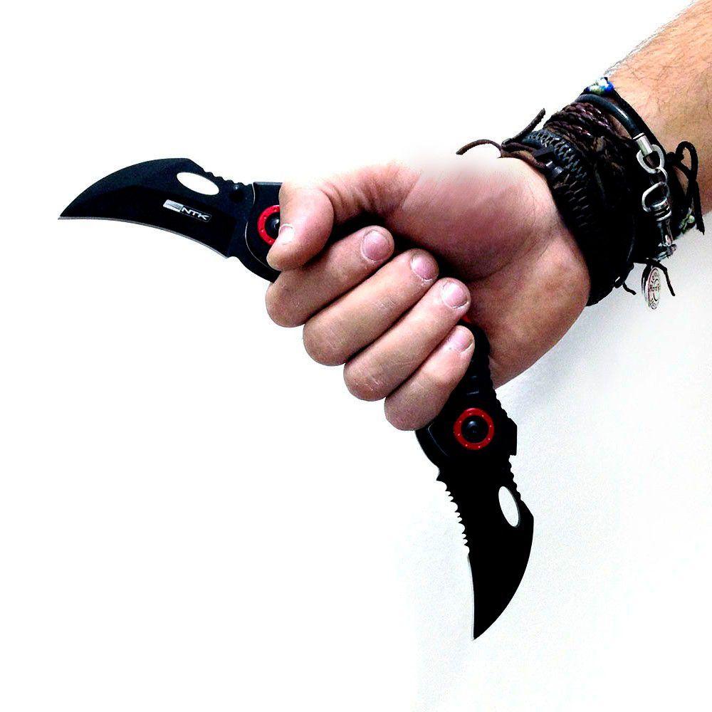 Canivete Diablo Duas Lâminas Semi Automático - Nautika  - AVENTÚ