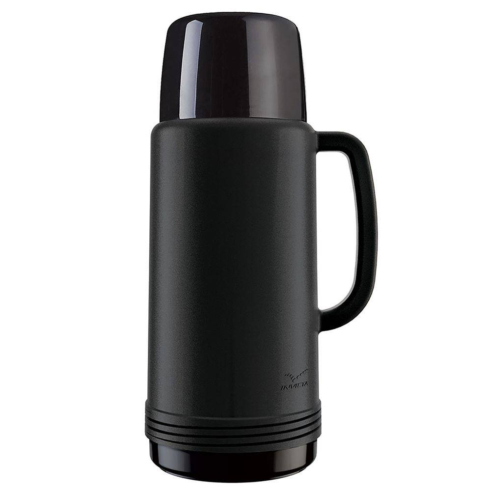 Garrafa Térmica Ideal Preto 1 Litro - Invicta  - AVENTÚ