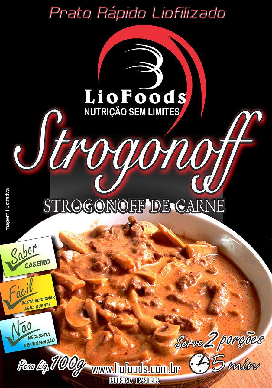 Prato Rápido Liofoods Strogonoff de Carne Liofilizado 100gr  - AVENTÚ