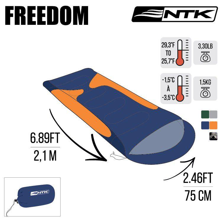 Saco de Dormir Freedom 1,5C A / 3,5C - Nautika  - AVENTÚ