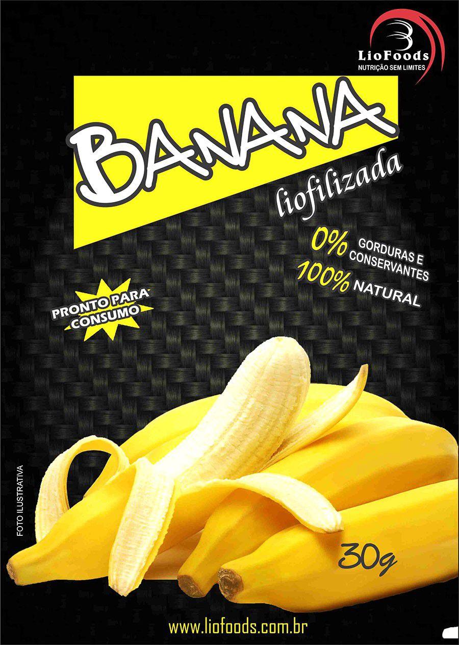 Snack de Banana Liofilizada Liofoods 30g  - AVENTÚ