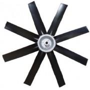 Hélice P/Exaustor Axial Diam.  670 mm c/8 Pás em Nylon Preto 40° c/Nucleo em Aluminio