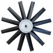 Hélice P/Exaustor Axial Diam.  860 mm c/9 Pás em Nylon Preto 35° c/Nucleo em Aluminio
