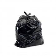 Kit com 100 sacos de lixo preto com capacidade de 20 litros