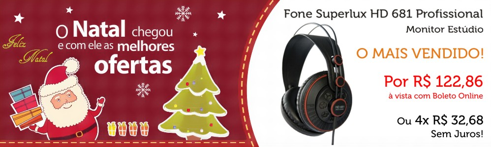 Ofertas de Natal - Fone Superlux HD 681 - Loja Transa Som