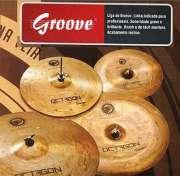 Set de Pratos Octagon Groove 14´´ 16´´ 20´´ - Transa Som Instrumentos Musicais