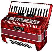 Acordeon Eagle EGA07120, 120 Baixos - Vermelho - Transa Som Instrumentos Musicais