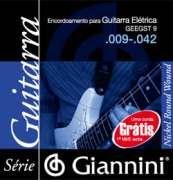Encordoamento Giannini para Guitarra Elétrica GEEGST 9 - Super Leve .009-.042 - Transa Som Instrumentos Musicais