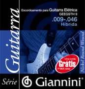 Encordoamento Giannini para Guitarra Elétrica GEEGSTH 9 - Híbrida .009-.046 - Transa Som Instrumentos Musicais