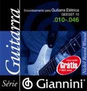 Encordoamento Giannini para Guitarra Elétrica GEEGST 10 - Leve .010-.046 - Transa Som Instrumentos Musicais