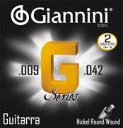 Encordoamento Giannini para Guitarra G Series GSGXL - Super Leve .009-.042 - Transa Som Instrumentos Musicais