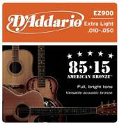 Encordoamento D Addario para Violão Aço EZ900 Extra Light .010-.050 - Transa Som Instrumentos Musicais