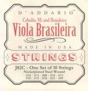 Encordoamento D Addario para Viola J82C Viola Brasileira - Cebolão Mi e Boiadeira - Transa Som Instrumentos Musicais