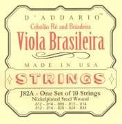 Encordoamento D Addario para Viola J82A Viola Brasileira - Cebolão Ré e Boiadeira - Transa Som Instrumentos Musicais