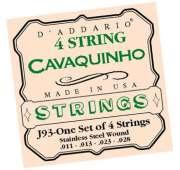Encordoamento D Addario para Cavaco J93 Cavaquinho Stainless Steel - Transa Som Instrumentos Musicais
