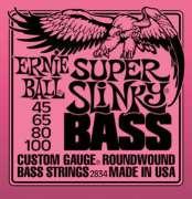 Encordoamento Ernie Ball para Baixo 4 Cordas, Super Slinky Bass .045-.100 - 2834 - Transa Som Instrumentos Musicais
